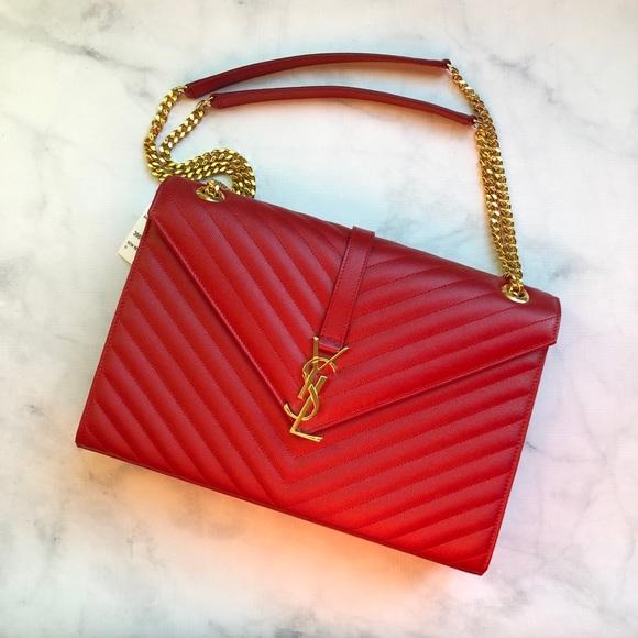 9c10eb765709 Yves Saint Laurent NWT Large Envelope Bag